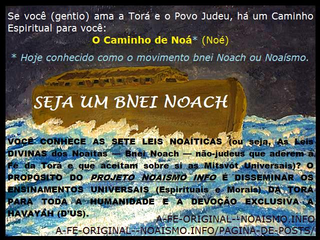 SEJA UM BNEI NOACH_Projeto Noaismo Info